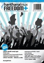 Hanthana Linux Community Magazine - From: ibiblio.org