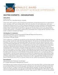 Presenter Bios - Rhode Island Sea Grant - University of Rhode Island
