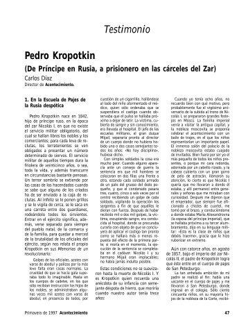 Pedro Kropotkin - Libertad y determinismo científico-técnico ...