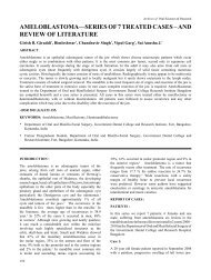 ameloblastoma—series of 7 treated cases – and review ... - Aosr.co.in
