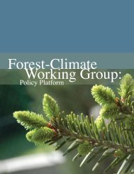 Forest-Climate Working Group: Policy Platform - National ...