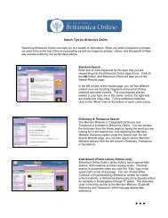 Search Tips for Britannica Online Academic Edition (PDF)