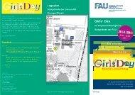 Flyer zum Girls'Day 2013 - Naturwissenschaftliche Fakultät der FAU ...