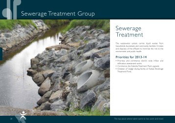 Annual Plan 2013-14 Sewerage Treatment Group