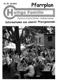 (PDF) Pfarrplan-35-Juni_2013 1 - Kirchengemeinde Heilige Familie ...