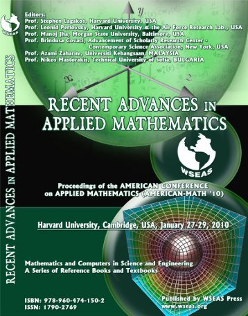 Recent Advances in Applied Mathematics - Wseas.us