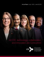 CTC Annual Report - Concurrent Technologies Corporation
