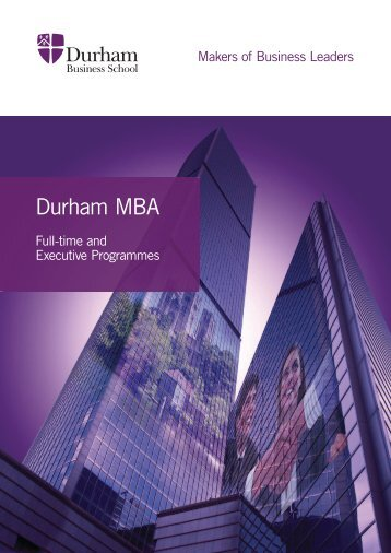Durham MBA - Study in the UK