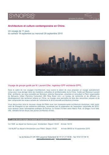 Architecture et culture contemporaine en Chine - Synopsism