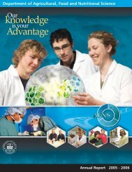 Annual Report 2005 - Agricultural, Food & Nutritional Science