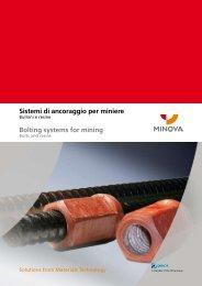 Sistemi di ancoraggio per miniere - Minova CarboTech GmbH