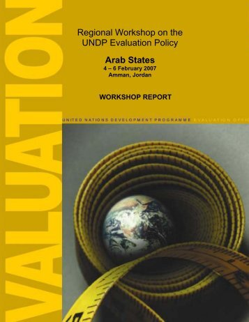 Regional Workshop on the UNDP Evaluation Policy Arab States