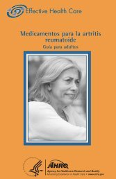 RA Consumer Spanish 07-27-09 - AHRQ Effective Health Care ...