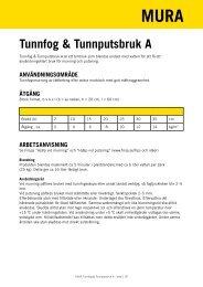 Tunnfog & Tunnputsbruk A - Finja