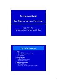 Lernpsychologie Das Eigene Lernen Verstehen
