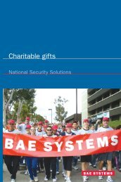 BAE Systems - Matching Gift
