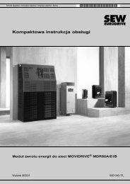 Moduł zwrotu energii do sieci MOVIDRIVE ... - SEW Eurodrive