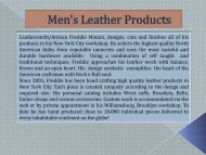 Men's Leather Products