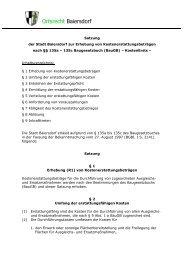Satzung zur Erhebung von ... - Stadt Baiersdorf