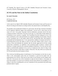 SC/STs And The State In The Indian Constitution (PDF)