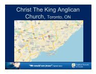Christ The King Anglican Church - Anglican Network in Canada