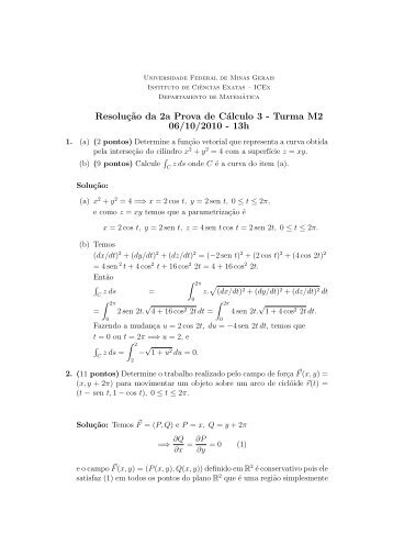 06/10/2010-13hs - Departamento de Matemática - Universidade ...