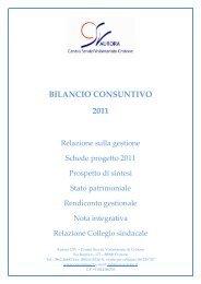 BILANCIO CONSUNTIVO 2011 - CSV Aurora Crotone