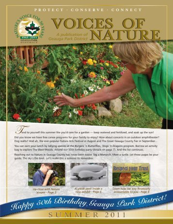 new summer issue of Voices of Nature - Geauga Park District
