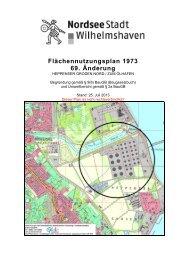 Entwurf der Begründung - Stadt Wilhelmshaven