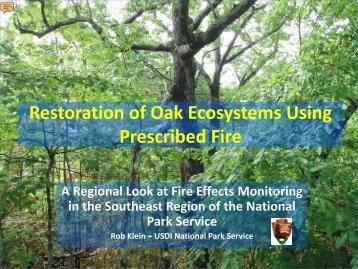 Restoration of Oak Ecosystems - Association for Fire Ecology