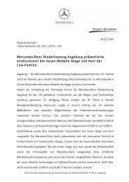 Mercedes-Benz Niederlassung Augsburg präsentierte eindrucksvoll ...