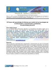 Volumen #6 – Numero 2, noviembre 2010 - Facultad de Idiomas ...