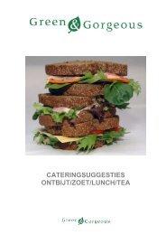 Felix Meritis Catering - Lunch suggesties 2013