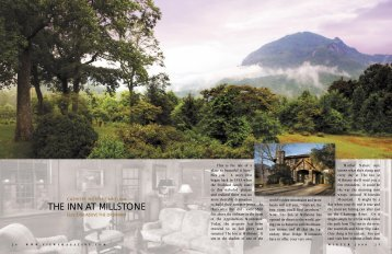 THE INN AT MILLSTONE - Views Magazine Website