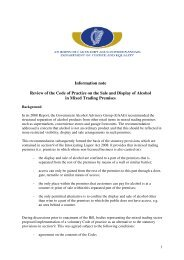 Review of the Code of Practice on the Sale and Display of Alcohol in ...