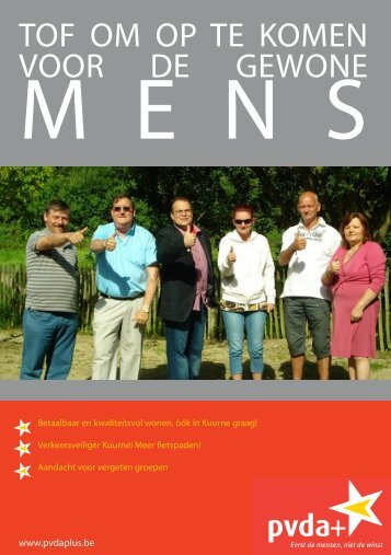 PVDA+ Kuurne brochure lokale verkiezingen 2012 - PVDA Sint ...