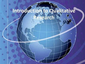 Introduction to Qualitative Research - Fischler School