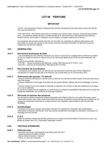 DCE 08 Peinture - Commune de Lanrivoaré
