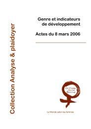 Genre et indicateurs de développement - Le Monde selon les femmes