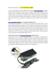 Realize Unique Features of an Acer Aspire 1680 AC Adapter.pdf