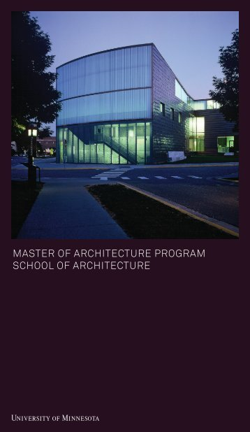 m.arch program brochure - School of Architecture - University of ...