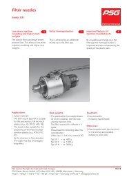 Filter nozzles - PSG Plastic Service GmbH