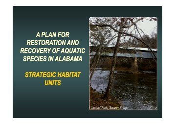 A Plan for Restoration and Recovery of Aquatic Species in Alabama