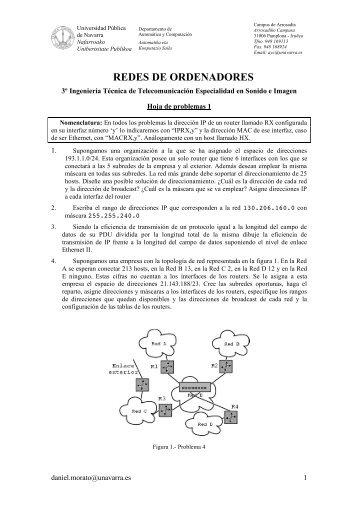 REDES DE ORDENADORES - Universidad Pública de Navarra