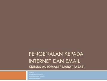 pengenalan kepada internet dan email - Kementerian Kesihatan ...