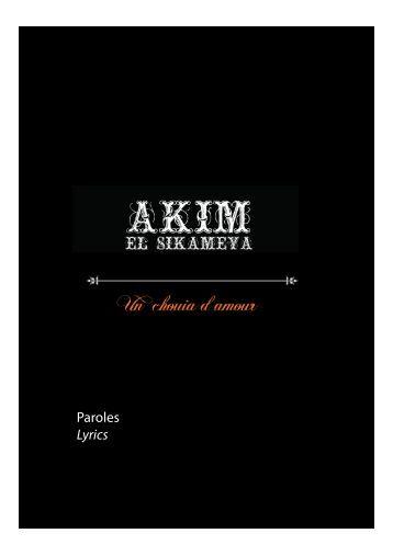 AkimElSikameya-Album_UnChouiadAmour-Paroles