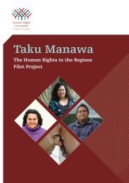 Taku Manawa - Human Rights Commission