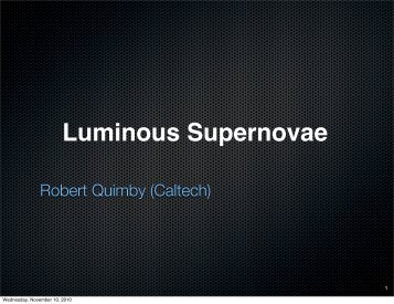Luminous Supernovae
