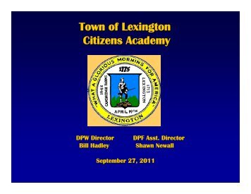 DPW and DPF Presentation - Lexington