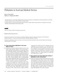 Phthalates in Food and Medical Devices - Journal of Medical ...